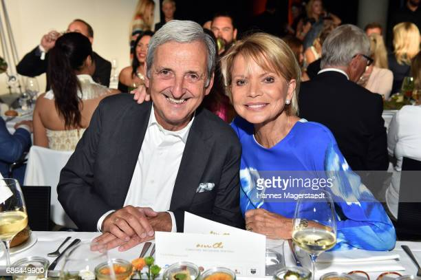 Actress Uschi Glas and her husband Dieter Hermann attend the Pre Golf Party during the 9th Golf Charity Cup hosted by the Christoph Metzelder...
