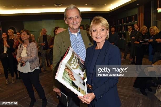 Actress Uschi Glas and her husband Dieter Hermann during the 'We are all the same' Exhibition Opening at Le Meridien on October 4 2017 in Munich...