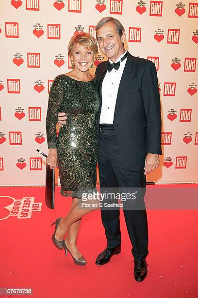 Actress Uschi Glas and husband Dieter Hermann attends the 'Ein Herz fuer Kinder' Charity Gala at Axel Springer Haus on December 18 2010 in Berlin...