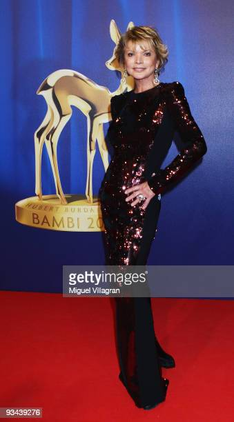 Actress Uschi Glas arrives to the Bambi Awards 2009 at the Metropolis Hall at the Filmpark Babelsberg on November 26 2009 in Potsdam Germany