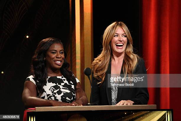 Actress Uzo Aduba and TV personality Cat Deeley present the 67th Primetime Emmy Awards Nominations at SilverScreen Theater at the Pacific Design...