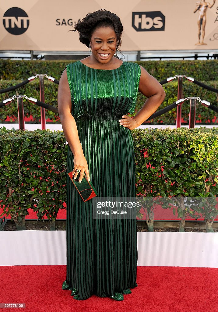 Actress Uzo Aduba arrives at the 22nd Annual Screen Actors Guild Awards at The Shrine Auditorium on January 30, 2016 in Los Angeles, California.