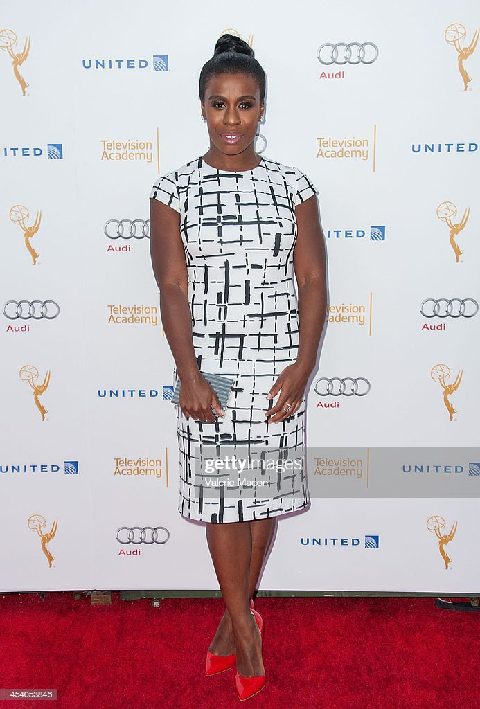 Actress <a gi-track='captionPersonalityLinkClicked' href=/galleries/search?phrase=Uzo+Aduba&family=editorial&specificpeople=7042411 ng-click='$event.stopPropagation()'>Uzo Aduba</a> arrives at the Television Academy's 66th Annual Emmy Awards Performers Nominee Reception at Spectra by Wolfgang Puck at the Pacific Design Center on August 23, 2014 in West Hollywood, California.