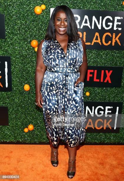Actress Uzo Aduba attends 'Orange Is The New Black' season 5 celebration at Catch on June 9 2017 in New York City