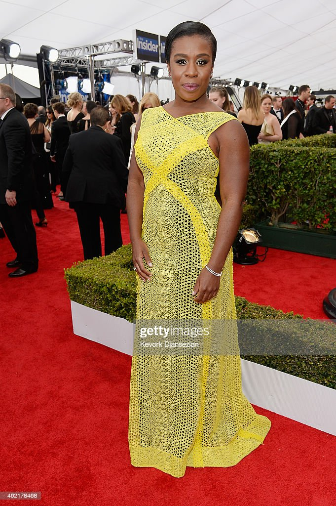 Actress Uzo Aduba attends the 21st Annual Screen Actors Guild Awards at The Shrine Auditorium on January 25 2015 in Los Angeles California