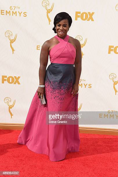 Actress Uzo Aduba attends the 67th Annual Primetime Emmy Awards at Microsoft Theater on September 20 2015 in Los Angeles California