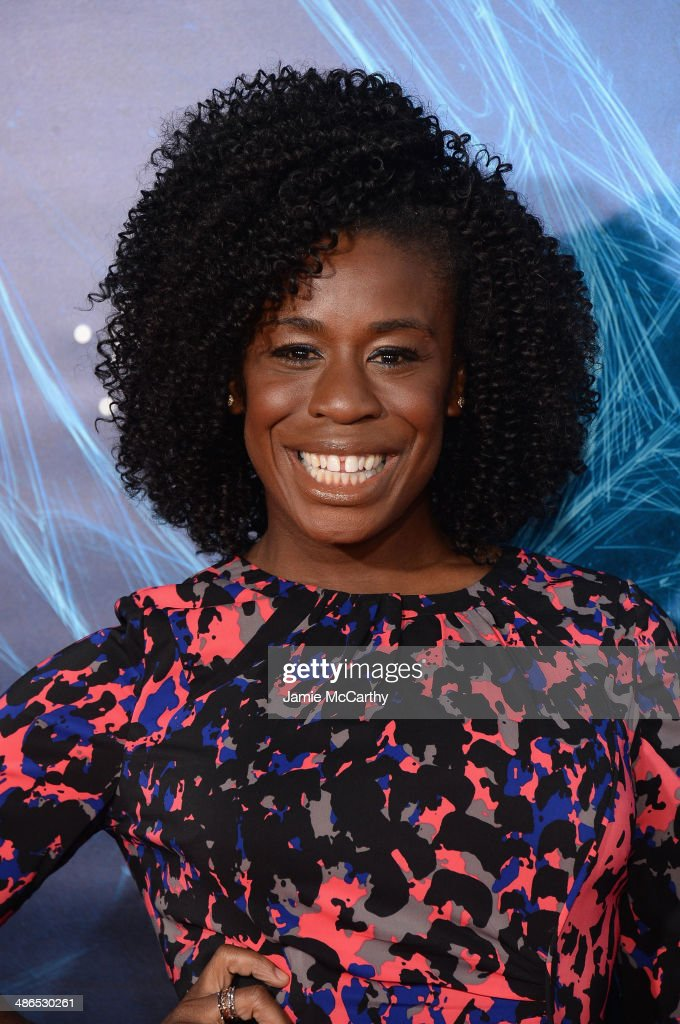Actress <a gi-track='captionPersonalityLinkClicked' href=/galleries/search?phrase=Uzo+Aduba&family=editorial&specificpeople=7042411 ng-click='$event.stopPropagation()'>Uzo Aduba</a> attends 'The Amazing Spider-Man 2' premiere at the Ziegfeld Theater on April 24, 2014 in New York City.