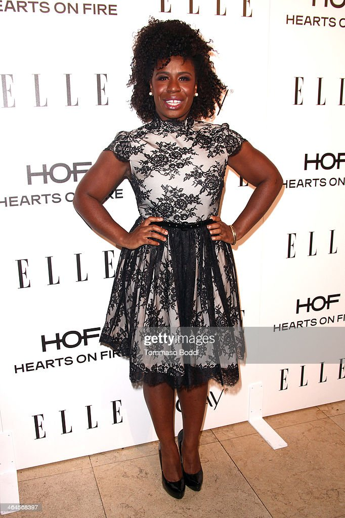Actress <a gi-track='captionPersonalityLinkClicked' href=/galleries/search?phrase=Uzo+Aduba&family=editorial&specificpeople=7042411 ng-click='$event.stopPropagation()'>Uzo Aduba</a> attends the ELLE Women In Television Celebration held at the Sunset Tower on January 22, 2014 in West Hollywood, California.