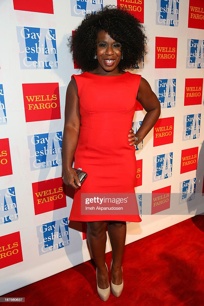 Actress <a gi-track='captionPersonalityLinkClicked' href=/galleries/search?phrase=Uzo+Aduba&family=editorial&specificpeople=7042411 ng-click='$event.stopPropagation()'>Uzo Aduba</a> attends the L.A. Gay & Lesbian Center's 42nd Anniversary Vanguard Awards Gala at Westin Bonaventure Hotel on November 9, 2013 in Los Angeles, California.