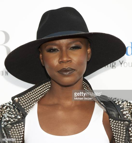 Actress V Bozeman attends Harlem's Fashion Row Style Beat In LA on February 6 2015 in Los Angeles California