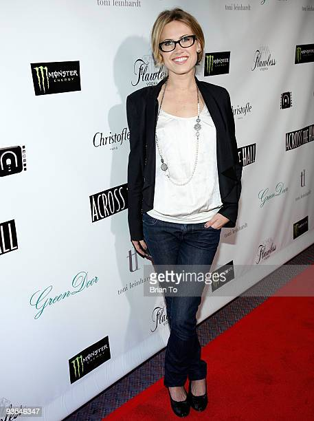 Actress Vail Bloom attends 'Across The Hall' Los Angeles Premiere at Laemmle's Music Hall 3 on December 1 2009 in Beverly Hills California