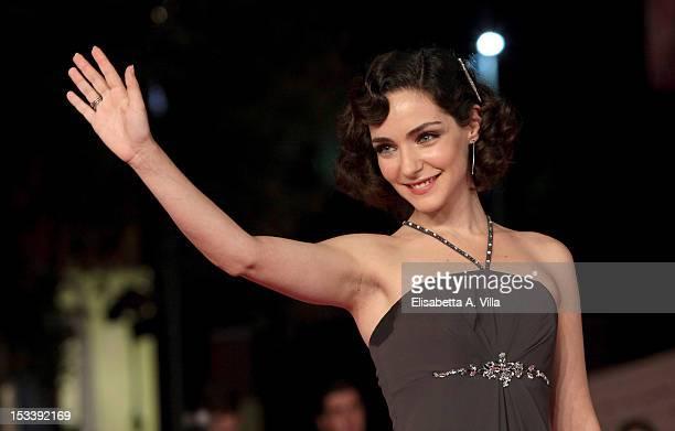 Actress Valentina Corti attends 'Trilussa Storia d'Amore e di Poesia' premiere during the 2012 RomaFictionFest at Auditorium Parco della Musica on...