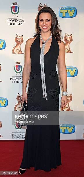 Actress Valentina Pace arrives at the Italian TV Awards ''Telegatti'' at the Auditorium Conciliazione on January 20 2008 in Rome Italy