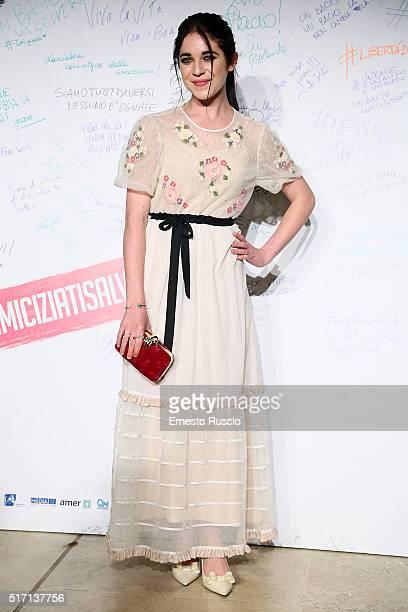 Actress Valentina Romani attends 'Un Bacio' Premiere at Auditorium Parco Della Musica on March 23 2016 in Rome Italy