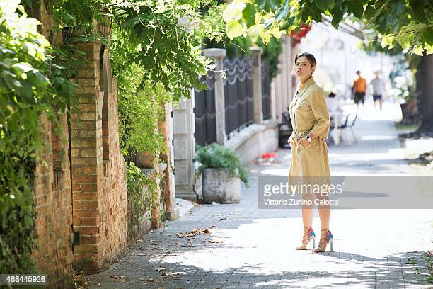 Actress Valeria Bilello is photographed for Self Assignment on September 11 2015 in Venice Italy