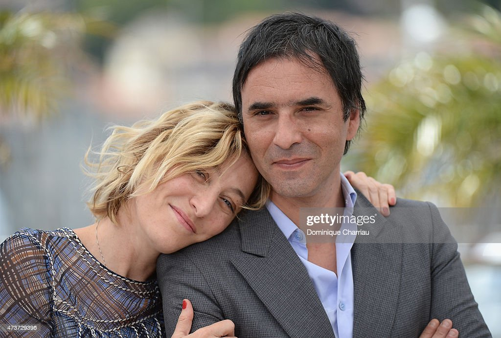 Actress Valeria Bruni Tedeschi and director Samuel Benchetrit attends the 'Asphalte' Photocall during the 68th annual Cannes Film Festival on May 17...