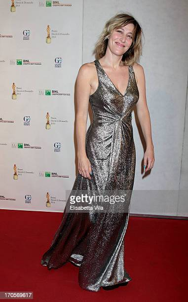 Actress Valeria Bruni Tedeschi attends 2013 Premi David di Donatello Ceremony Awards at Dear RAI Studios on June 14 2013 in Rome Italy