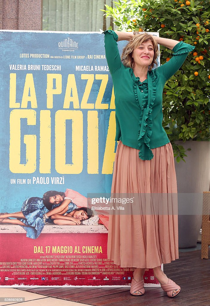 Actress Valeria Bruni Tedeschi attends a photocall for 'La Pazza Gioia' at Visconti Palace Hotel on May 6, 2016 in Rome, Italy.