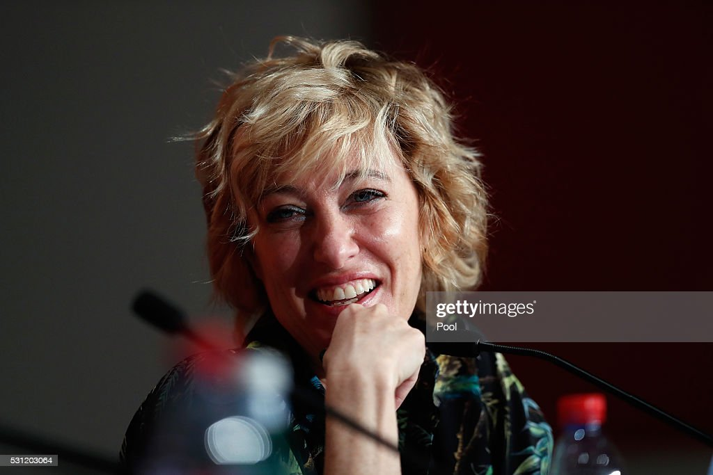 Actress Valeria Bruni Tedeschi attends the 'Slack Bay (Ma Loute)' press conference during the 69th annual Cannes Film Festival at the Palais des Festivals on May 13, 2016 in Cannes, France.