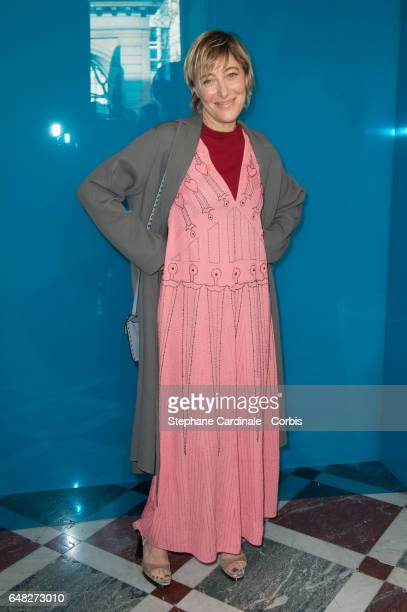 Actress Valeria Bruni Tedeschi attends the Valentino show as part of the Paris Fashion Week Womenswear Fall/Winter 2017/2018 on March 5 2017 in Paris...
