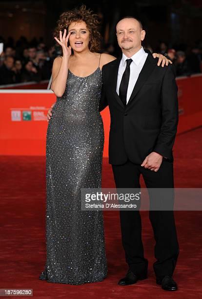 Actress Valeria Golino and director Marco Simon Puccioni attends 'Come Il Vento' Premiere during The 8th Rome Film Festival on November 10 2013 in...