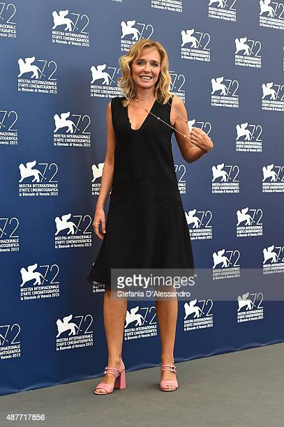 Actress Valeria Golino attends a photocall for 'Per Amor Vostro' during the 72nd Venice Film Festival at Palazzo del Casino on September 11 2015 in...