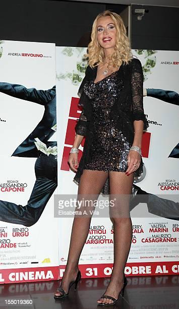 Actress Valeria Marini attends 'E Io Non Pago' Rome Premiere at Cinema Adriano on October 30 2012 in Rome Italy