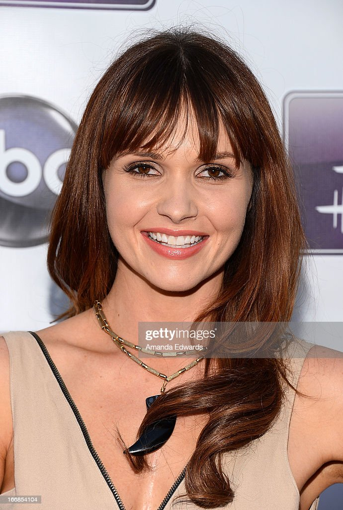 Actress Valerie Azlynn arrives at the Disney ABC Television and The Hallmark Hall of Fame's premiere of 'Remembering Sunday' at Fox Studio Lot on April 17, 2013 in Century City, California.