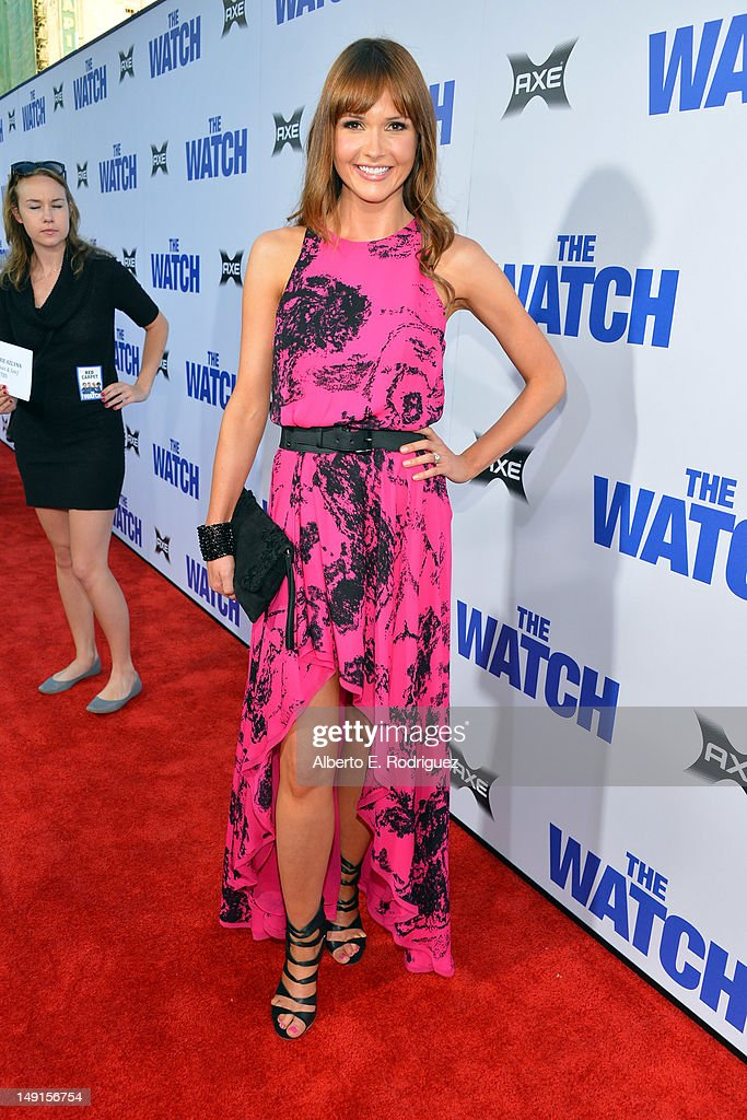 Actress Valerie Azlynn arrives at the premiere of Twentieth Century Fox's 'The Watch' at Grauman's Chinese Theatre on July 23, 2012 in Hollywood, California.