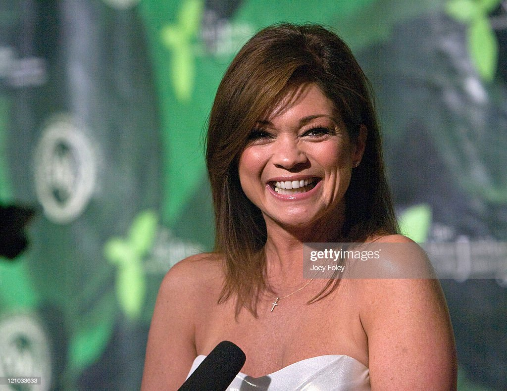 Actress <a gi-track='captionPersonalityLinkClicked' href=/galleries/search?phrase=Valerie+Bertinelli&family=editorial&specificpeople=790177 ng-click='$event.stopPropagation()'>Valerie Bertinelli</a> is interviewed by local TV as she arrives for the 2009 Mint Jubilee Derby Eve Gala at the Galt House Hotel & Suites on May 1, 2009 in Louisville, Kentucky.