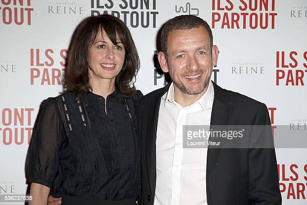 Actress Valerie Bonneton and Actor Dany Boon attend 'Ils sont Partout' Paris Premiere at Gaumont Capucines on May 31 2016 in Paris France
