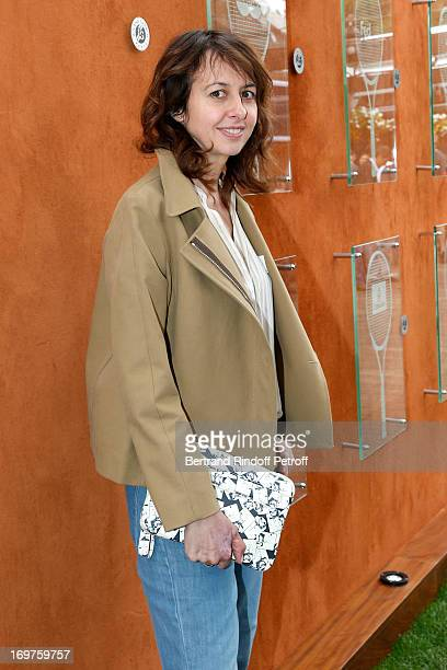 Actress Valerie Bonneton attends Roland Garros Tennis French Open 2013 Day 7 on June 1 2013 in Paris France