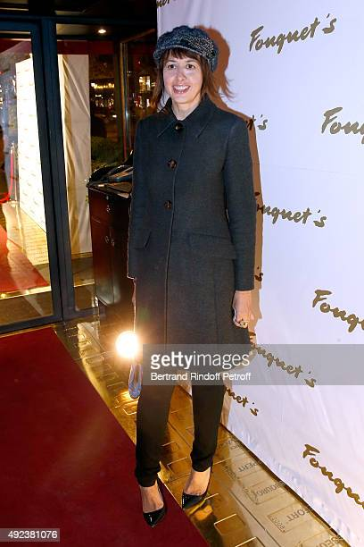 Actress Valerie Bonneton attends the Fouquet's Paris Restaurant presents its Menu 'Twisted' by the Chef Pierre Gagnaire Held at Le Fouquet's on...