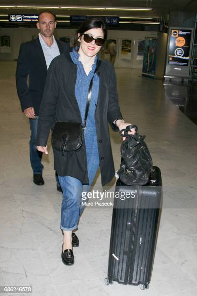 Actress Valerie Donzelli arrives at Nice airport during the 70th annual Cannes Film Festival at on May 21 2017 in Cannes France