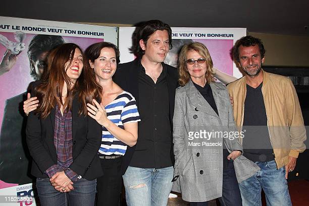 Actress Valerie Donzelli director Katia Lewkowicz actor Benjamin Biolay actress Nicole Garcia and actor Eric Lartigau attend a photocall for...