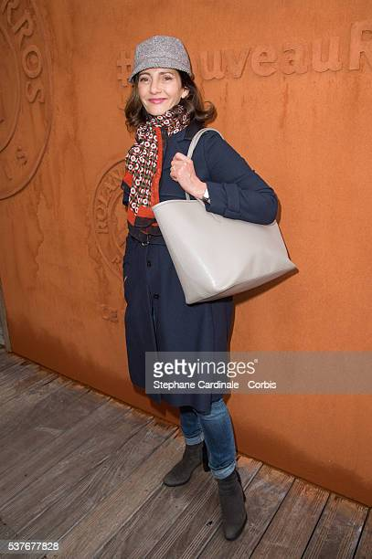 Actress Valerie Karsenti attends day twelve of the 2016 French Open at Roland Garros on June 2 2016 in Paris France