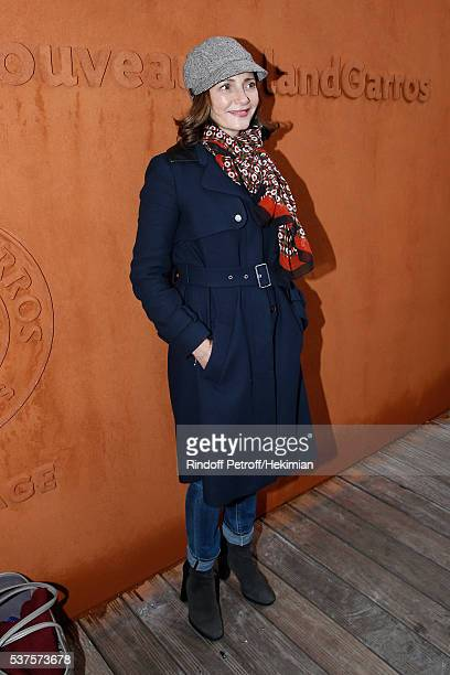Actress Valerie Karsenti attends Day Twelve of the 2016 French Tennis Open at Roland Garros on June 2 2016 in Paris France