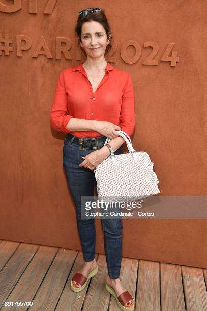 Actress Valerie Karsenti attends the 2017 French Tennis Open Day Six at Roland Garros on June 2 2017 in Paris France