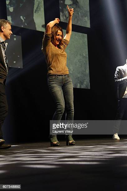 Actress Valerie Karsenti attends the closing ceremony during the 18th Festival of TV Fiction on September 17 2016 in La Rochelle France