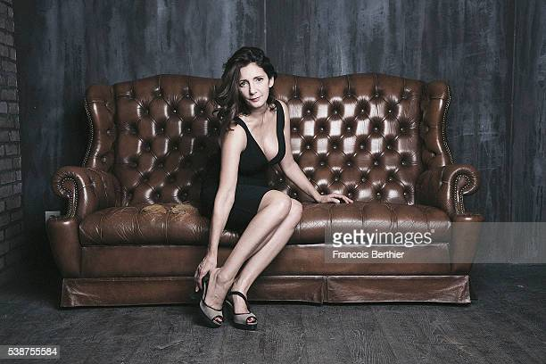 Actress Valerie Karsenti is photographed for Self Assignment on October 29 2015 in Paris France