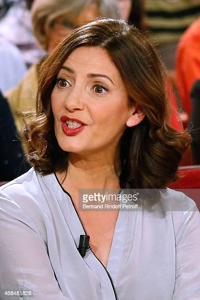 Actress Valerie Karsenti presents the Theater play 'Chambre froide' during the 'Vivement Dimanche' French TV Show at Pavillon Gabriel on November 5...