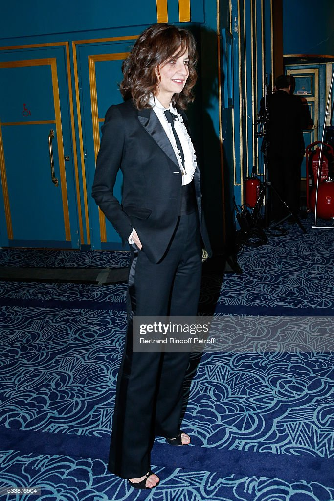 Actress valerie Lemercier attends 'La 28eme Nuit des Molieres' on May 23 2016 in Paris France