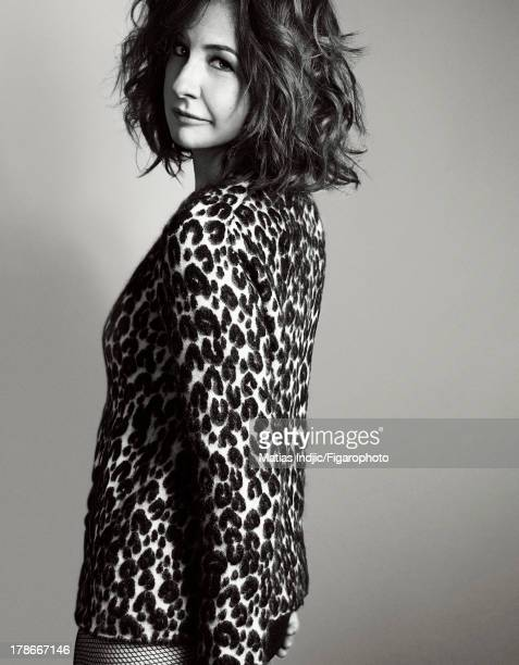 107274007 Actress Valerie Lemercier is photographed for Madame Figaro on July 24 2013 in Paris France Sweater tights PUBLISHED IMAGE CREDIT MUST READ...