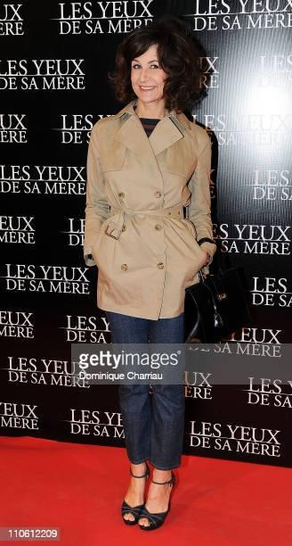 Actress Valerie Lemercier poses as she attends 'Les Yeux De Sa Mere' Paris Premiere at cinema Gaumont Opera in Paris on March 22 2011 in Paris France