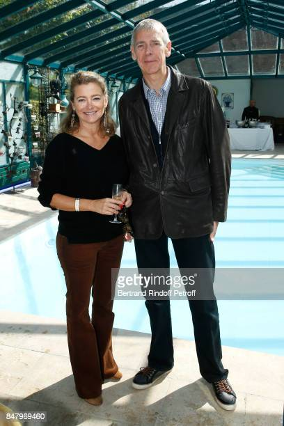 Actress Valerie Payet and Mayor of Monthyon Claude Decuypere attend the Garden Party organized by Bruno Finck companion of JeanClaude Brialy at...