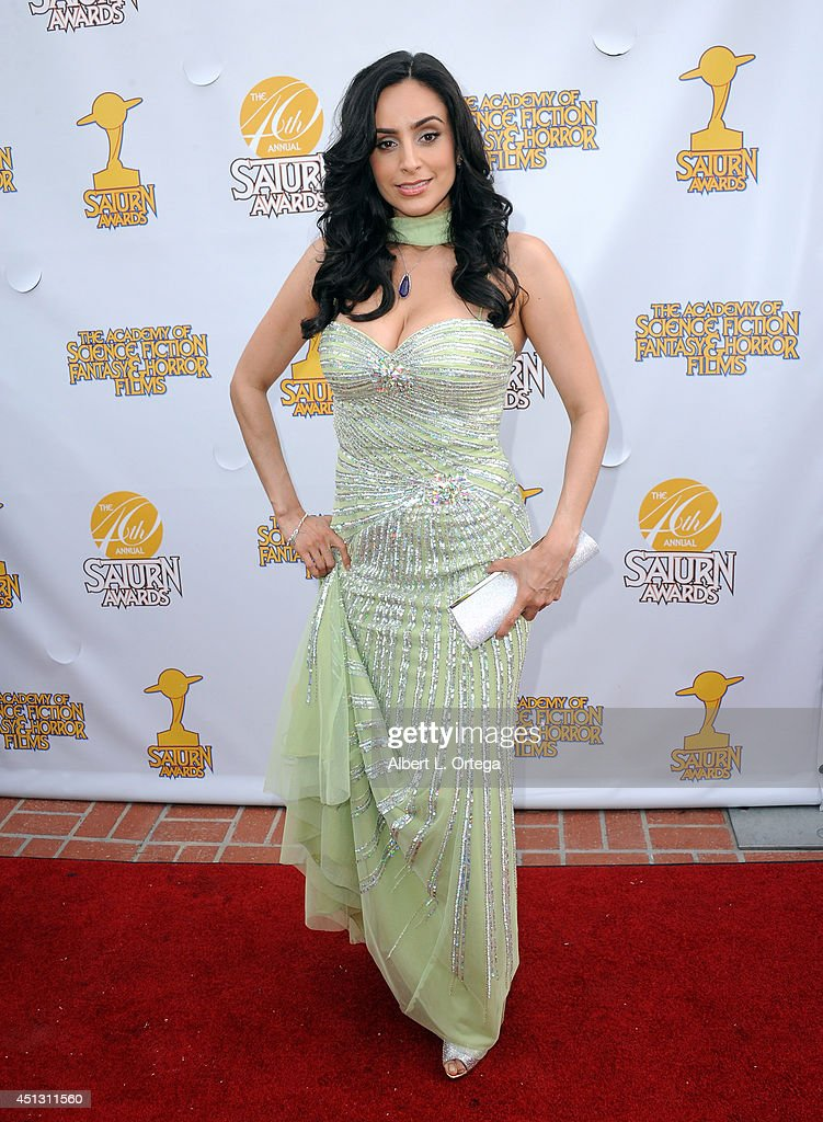Actress Valerie Perez arrives for the 40th Annual Saturn Awards held at The Castaway on June 26, 2014 in Burbank, California.
