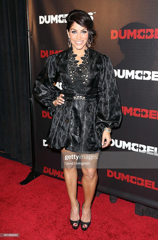 Actress Valery M. Ortiz attends the premiere of GoDigital's 'Dumbbells' at SupperClub Los Angeles on January 7, 2014 in Los Angeles, California.
