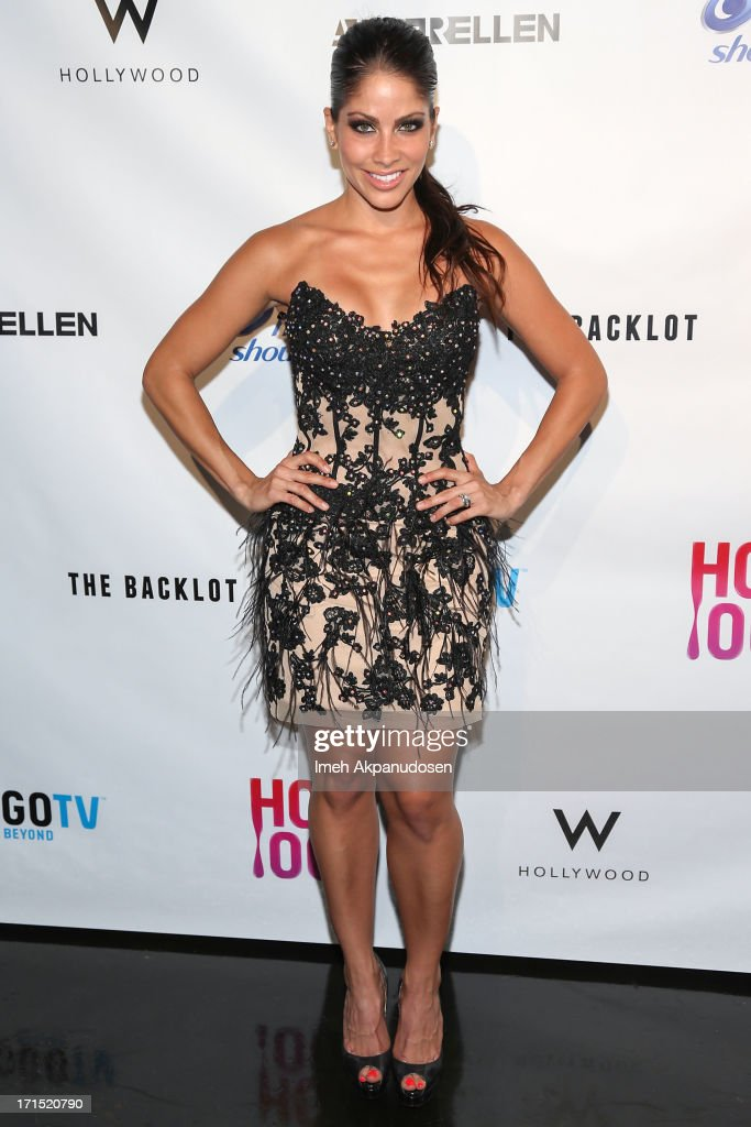 Actress Valery Ortiz attends Logo's 'Hot 100' Party at Drai's Lounge in W Hollywood on June 25, 2013 in Hollywood, California.