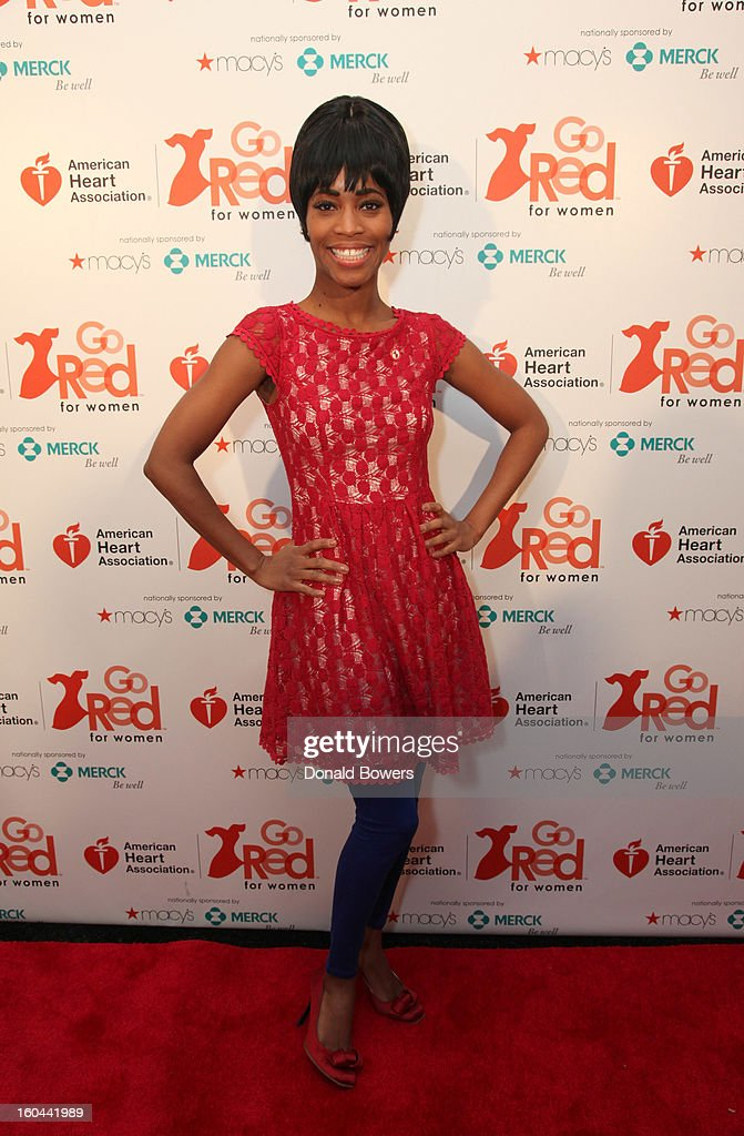 Actress Valisia LeKae attends the event to celebrate the 10th National Wear Red Day with American Heart Association's Go Red For Women movement at Macy's Herald Square on January 31, 2013 in New York City.