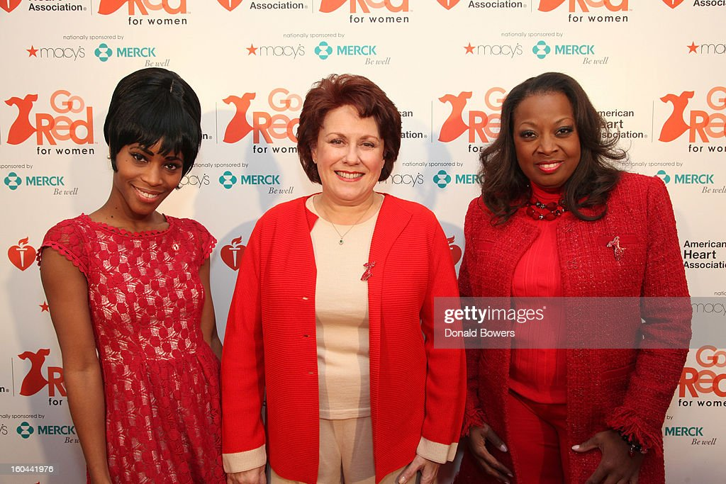 Actress Valisia LeKae, Tony Award-Winner <a gi-track='captionPersonalityLinkClicked' href=/galleries/search?phrase=Judy+Kaye&family=editorial&specificpeople=572472 ng-click='$event.stopPropagation()'>Judy Kaye</a> and TV personality <a gi-track='captionPersonalityLinkClicked' href=/galleries/search?phrase=Star+Jones&family=editorial&specificpeople=202645 ng-click='$event.stopPropagation()'>Star Jones</a>, who is Heart Disease Survivor and American Heart Association National Volunteer, attend the event to celebrate the 10th National Wear Red Day with American Heart Association's Go Red For Women movement at Macy's Herald Square on January 31, 2013 in New York City.